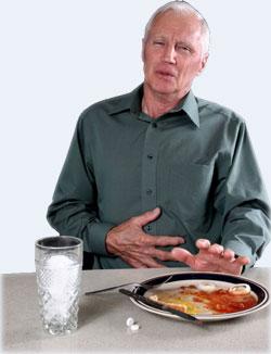 Отказ от еды, боли при принятии пищи