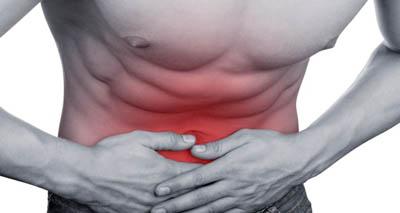 Определение симптомов в брюшной полости