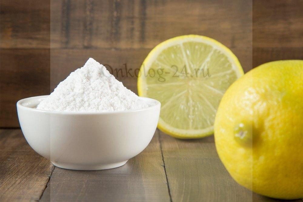 lecheniye raka sodoy i limonom